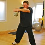 Richie kettlebell training