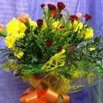 Hand-tied bouquet from Daff-o-Dil's