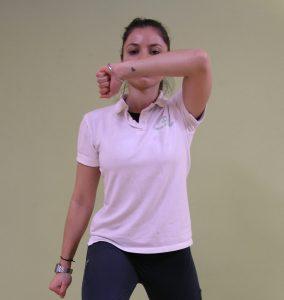 Renata demonstrates a move