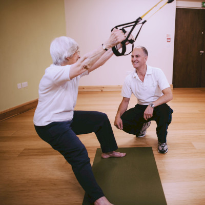 TRX one-to-one with older lady