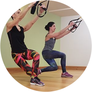 Mum and daughter TRX training