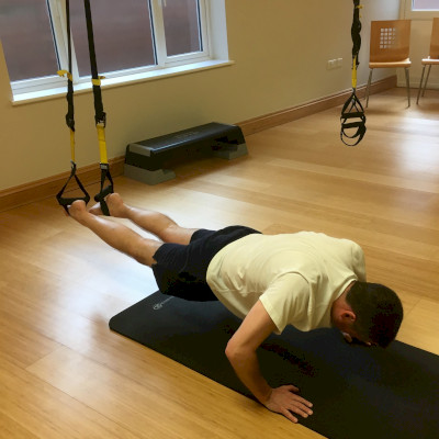 Male TRX push-ups