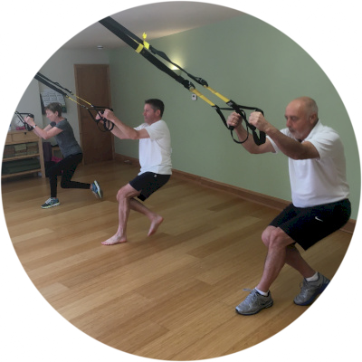 TRX class in the studio